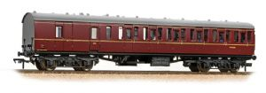 Bachmann 34-630A BR Mark 1 Suburban Brake 2nd, Lined Maroon Livery, WITH PASSENGERS